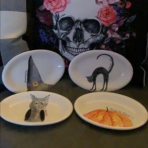 Rae Dunn Halloween Side plates